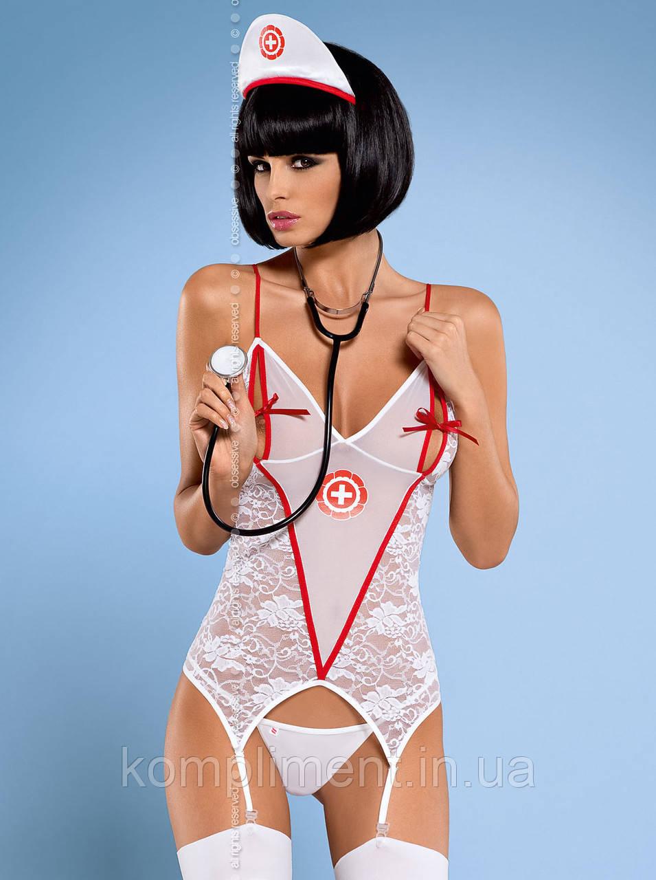 Эротический игровой костюм MEDICA CORSET