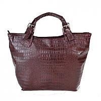 Женская бордовая сумка под крокодила М51-37