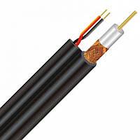 Коаксіальний кабель Dialan RG660+2x0,50 CU комбінований 1,02 мм Екран 60% з живленням 75 Ом 305 м
