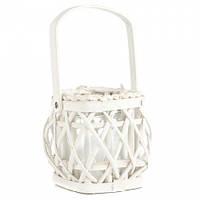 Маленькая плетеная корзинка для декора (14*14*14 см)