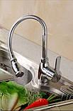 Смеситель кран на кухню для мойки раковины одно рычажный 0055, фото 2