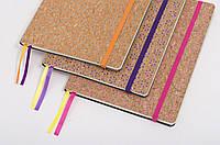 Блокнот А5 Leo Planner , пробка, на резинке, фиолетовая, 96 листов, 151020