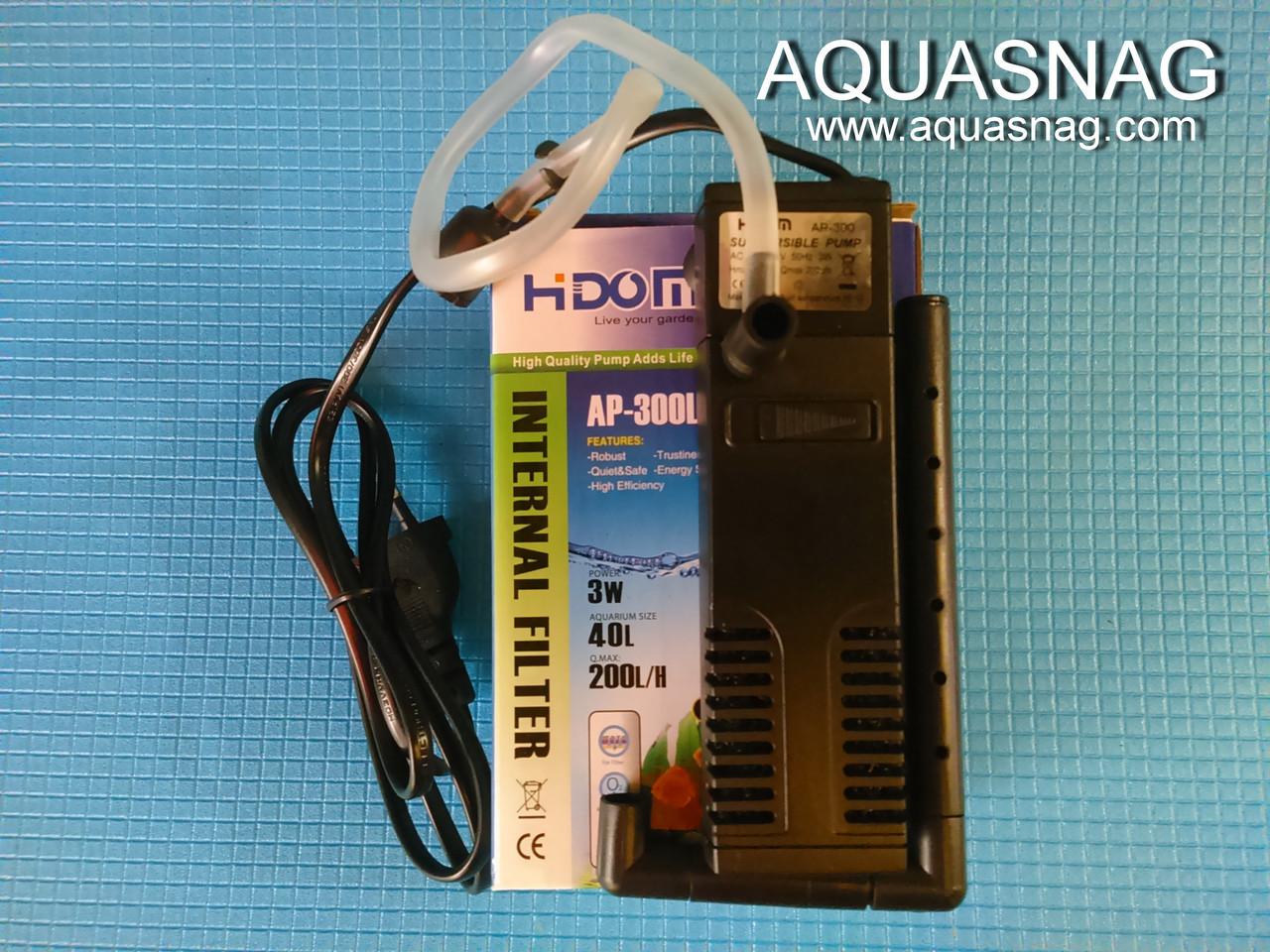 """Внутренний фильтр HIDOM AP-300L, до 40л, 200л/ч, 3W, с регулировкой мощности - """"AQUASNAG"""" Оптово-розничный интернет магазин в Харькове"""