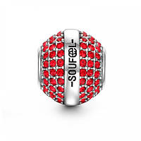 """Январь""  Swarovski Crystal  шарм на браслет серебро 925 Soufeel"