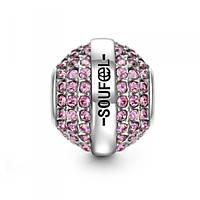 """Февраль"" Swarovski Crystal  шарм на браслет серебро 925 Soufeel"