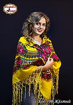 Украинский жёлтый платок Цветущий сад, фото 3