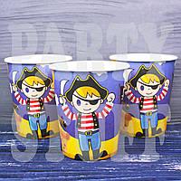 Одноразовые стаканчики для детей пираты, 10 шт