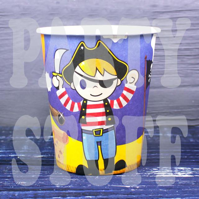 стаканчики одноразовые пират