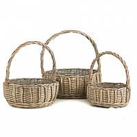 Плетеные корзины (36*33*34 см) цена за 3 шт.