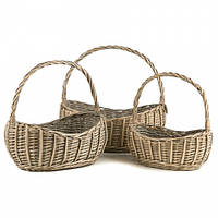 Набор плетеных корзинок для хранения (43*28*42 см)