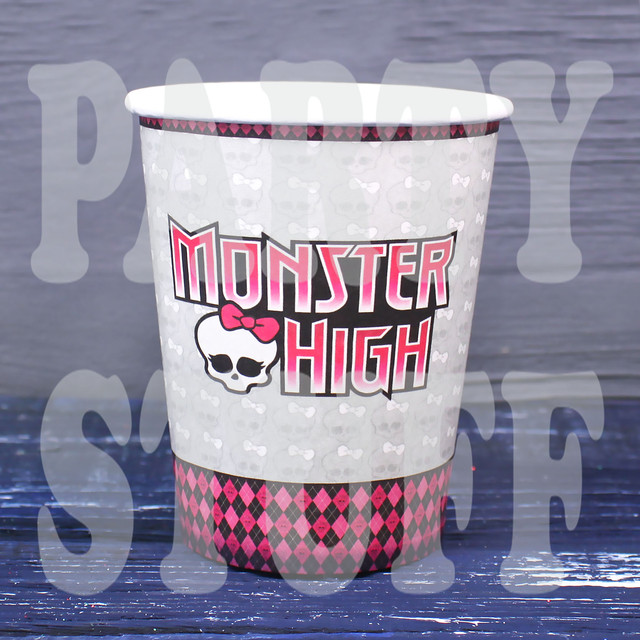 стаканы одноразовые для праздника Монстер Хай