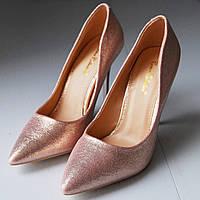 Женские туфли лодочки розовые