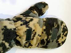 Перчатки-варежки зимние пиксель (флис+ткань)
