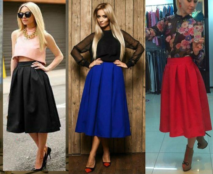 Женская стильная юбка Миди - 9 цветов! - СТИЛЬНАЯ ДЕВУШКА интернет магазин модной  женской одежды 79005db30d5