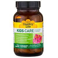 Ферменты детские, поддержка пищеварения для детей, Country Life, Kids Care Digestive Support,   120 штук