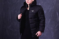 Зимняя мужская куртка Fred Perry черная