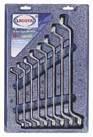 Набор ключей накидных 75гр. 6-22 мм в пластиковой подложке 8пр LICOTA AWT-EBSK01