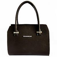 Женская коричневая деловая каркасная сумка М50-40