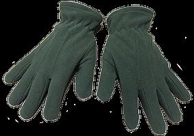 Перчатки на флисе №10 зеленые