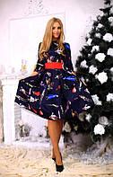 Платье женское с поясом бант