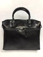 Женская сумка из кожи чёрная