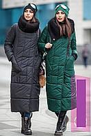 Модный тренд - зимний плащ-пуховик.