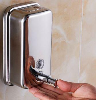 Дозатор для жидкого мыла настенный для магазина кафе ресторана супермаркета металлический 0277