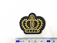 Нашивка золотая корона / crown 4,5х3,7