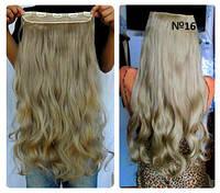 Волосы на заколках тресс прядь волна №16  55см