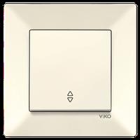 Выключатель 1-кл. проходной Viko Meridian крем