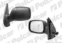 Наружное зеркало слева 03-08 (механика) на Рено Кенго POLCAR (Польша) -6061511M