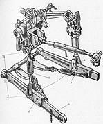 Механизм задней навески мтз -80, мтз-82, мтз-1221
