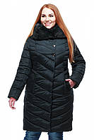 Зимнее женское пальто с мехом Мария