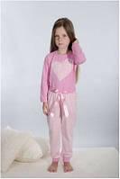 Пижама детская для девочки розовая хлопок Wiktoria W 161