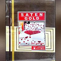 """Двуспальный комплект белья 100 % хлопок """"SATEN GOLD"""" 180 х 210 см"""
