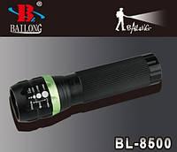 Фонарь светодиодный Bailong BL-8500 с оптическим зумом / светодиодный фонарик