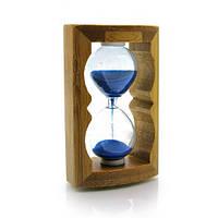 Часы песочные в бамбуке 11,5х8,5х4,5 см