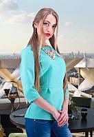 Женская блузка прямого кроя
