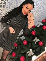 Платье-туника, трикотаж с люрексовой ниткой