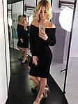 Женское платье, 30% шерсть, 70% акрил, р-р универсальный 42-46 (чёрный), фото 2