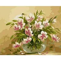Картина по номерам на холсте Букет Цветочная нежность 40*50см КН1064