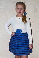 Элегантное нарядное платье  для девочки поясом-резинкой.