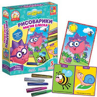 Набор для творчества Рисоварики. Магия блеска. Ежик Vladi Toys  VT4801-10