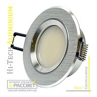Алюминиевый светильник Hi-Tech Feron DL6101 AS21 Aluminium (встраиваемый потолочный) круг