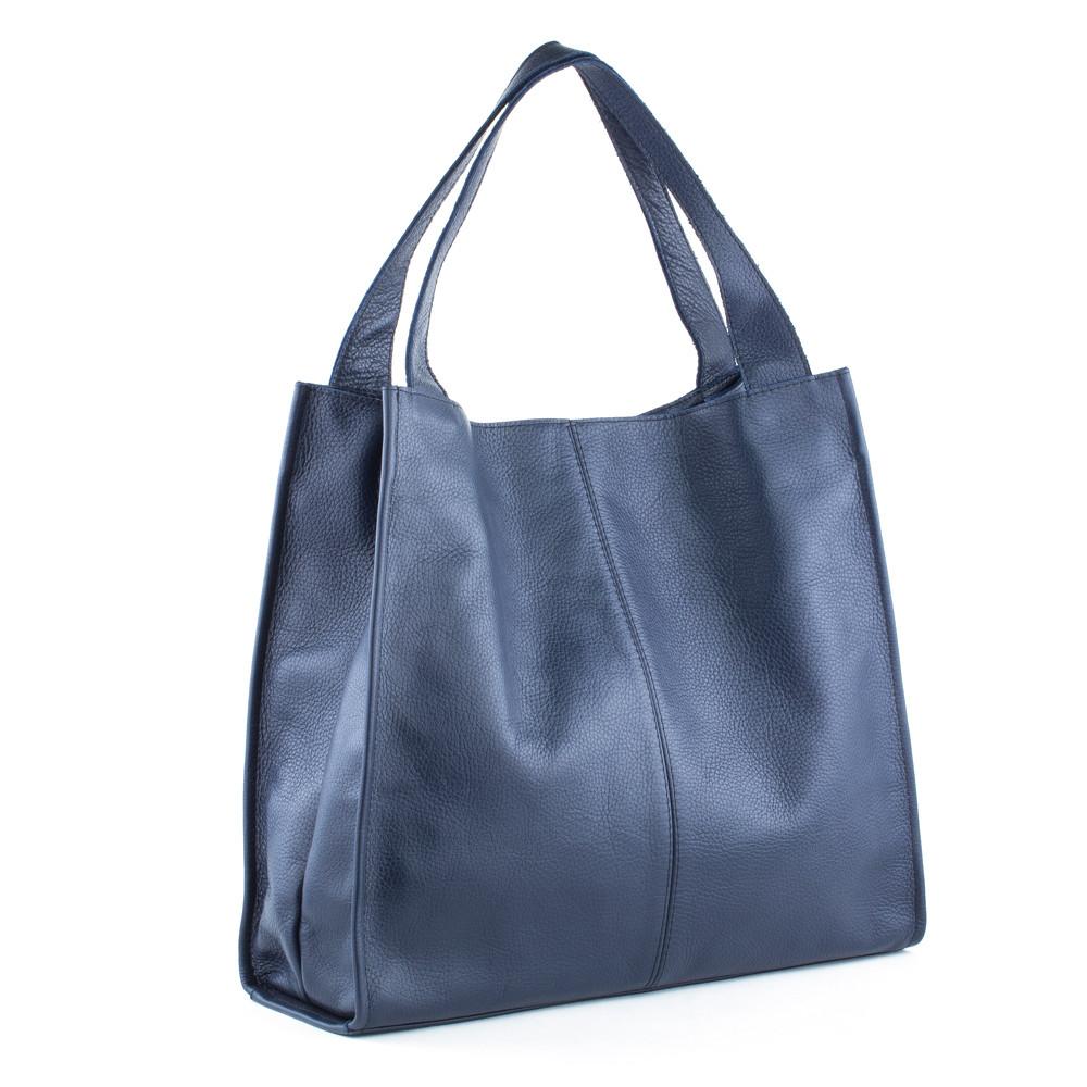 Женская кожаная сумка 12 темно-синий флотар 01120103