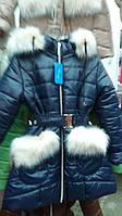 Зимнее подростковое пальто на синтепоне