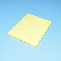 Губка вискозная для очистки жала паяльника прямоугольная 65*50мм  13-0296