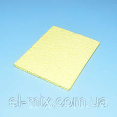 Губка віскозна для очищення жала паяльника прямокутна 65*50мм 13-0262