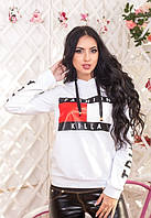 Женская кофта двунитка  Томми Халфигер белая красная
