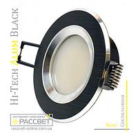 Алюминиевый светильник Hi-Tech Feron DL6101 AS21 Black Aluminium (встраиваемый потолочный) круг
